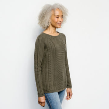 Cotton Cable-Stitch Sweater -  image number 1
