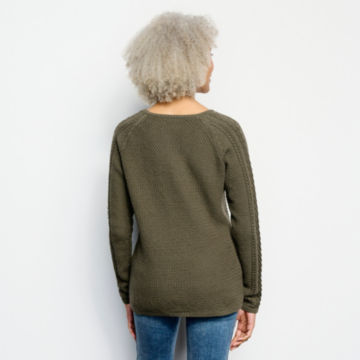 Cotton Cable-Stitch Sweater -  image number 2