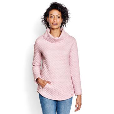 Quilted Cowlneck Sweatshirt -