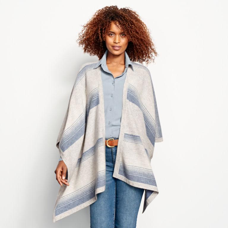 Blanket-Stripe Cashmere Wrap -  image number 0