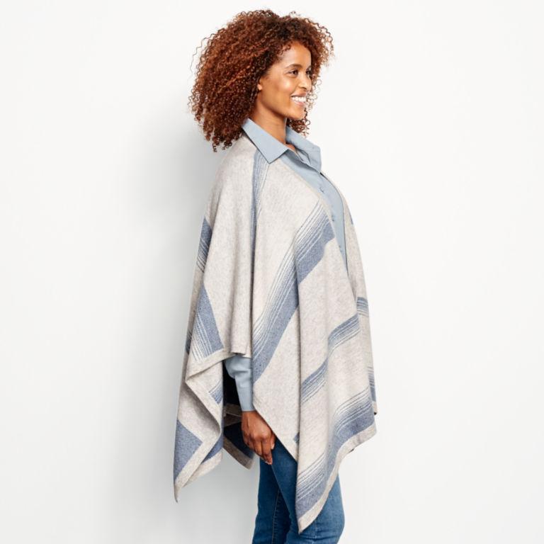 Blanket-Stripe Cashmere Wrap -  image number 1