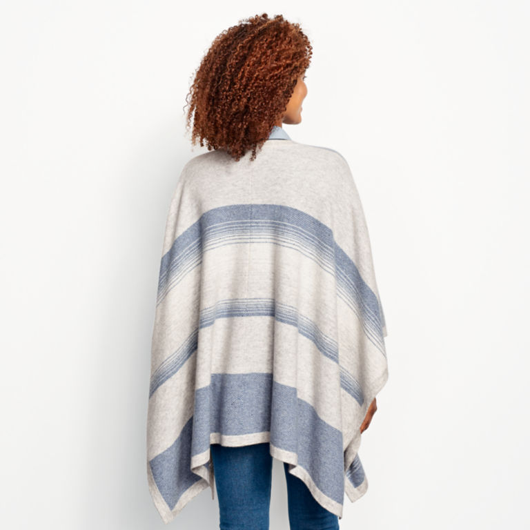 Blanket-Stripe Cashmere Wrap -  image number 2