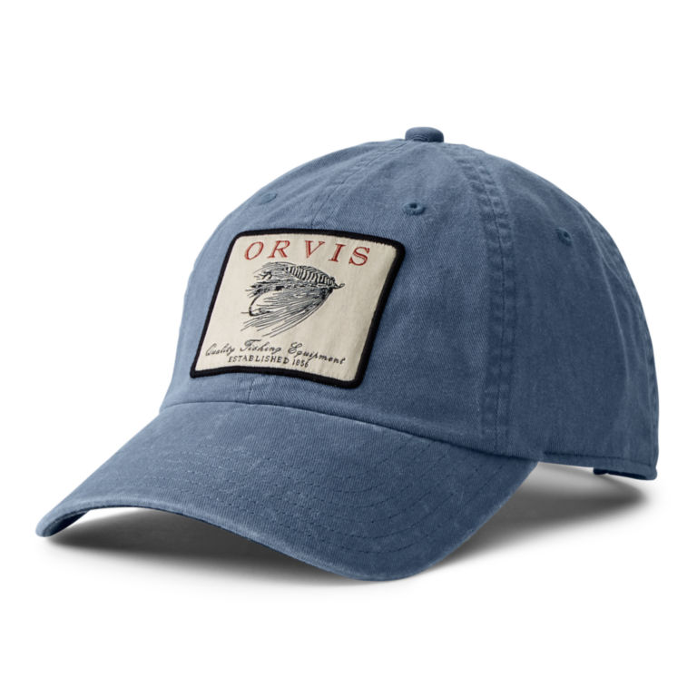 Vintage Salmon Fly Twill Cap - GRAY/BLUE image number 0
