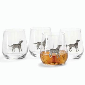 Pewter Medallion Glasses, set of 4 -