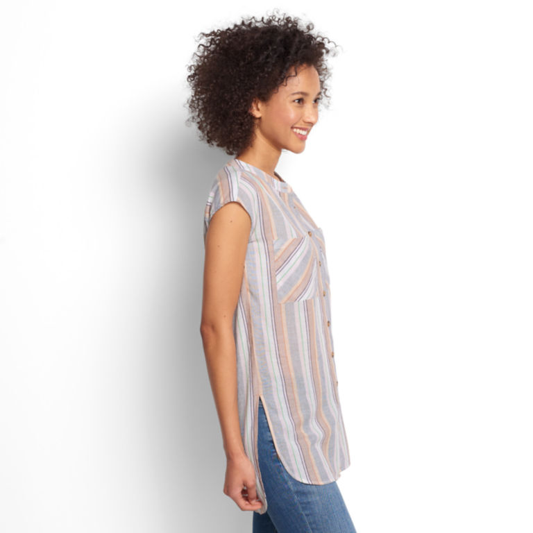 Textured Striped Dolman Tunic -  image number 1