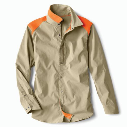 A tan and orange hunting shirt