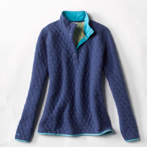 laydown of blue sweatshirt