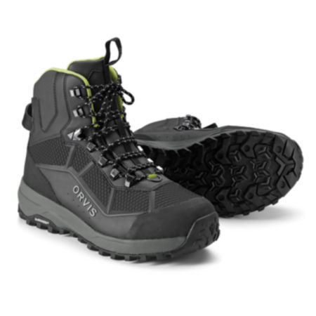 A pair of black wading boots