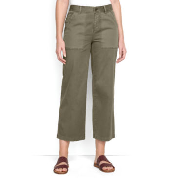 Cropped Wide-Leg Everyday Chinos -