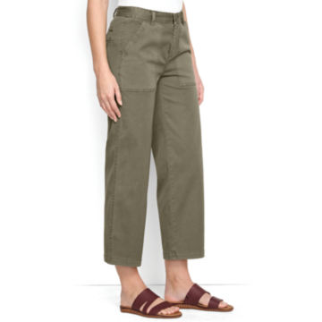 Cropped Wide-Leg Everyday Chinos -  image number 1