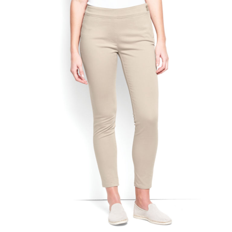 Stretch Sateen Capris -  image number 0
