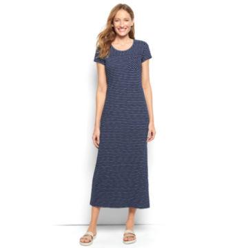 Striped Indigo Maxi Dress -  image number 0