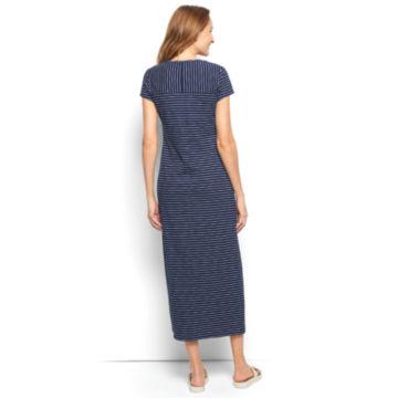 Striped Indigo Maxi Dress -  image number 1