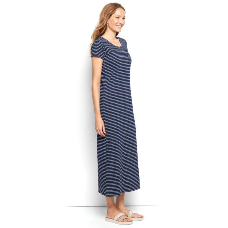 Striped Indigo Maxi Dress -  image number 2