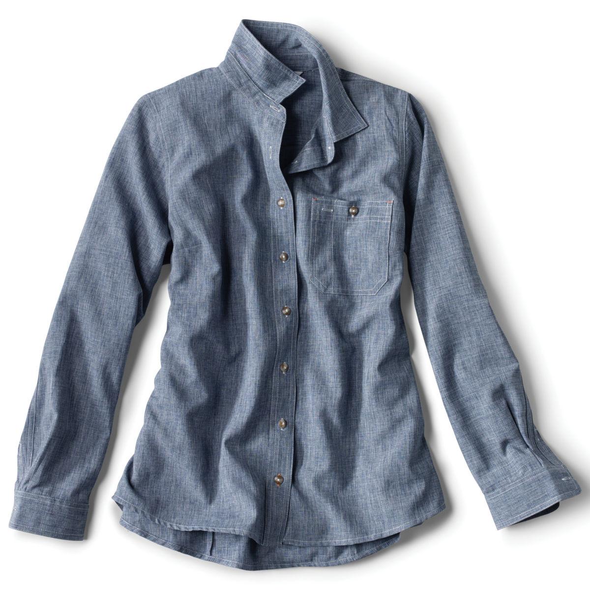 Women's Tech Chambray Work Shirt - BLUE CHAMBRAYimage number 0