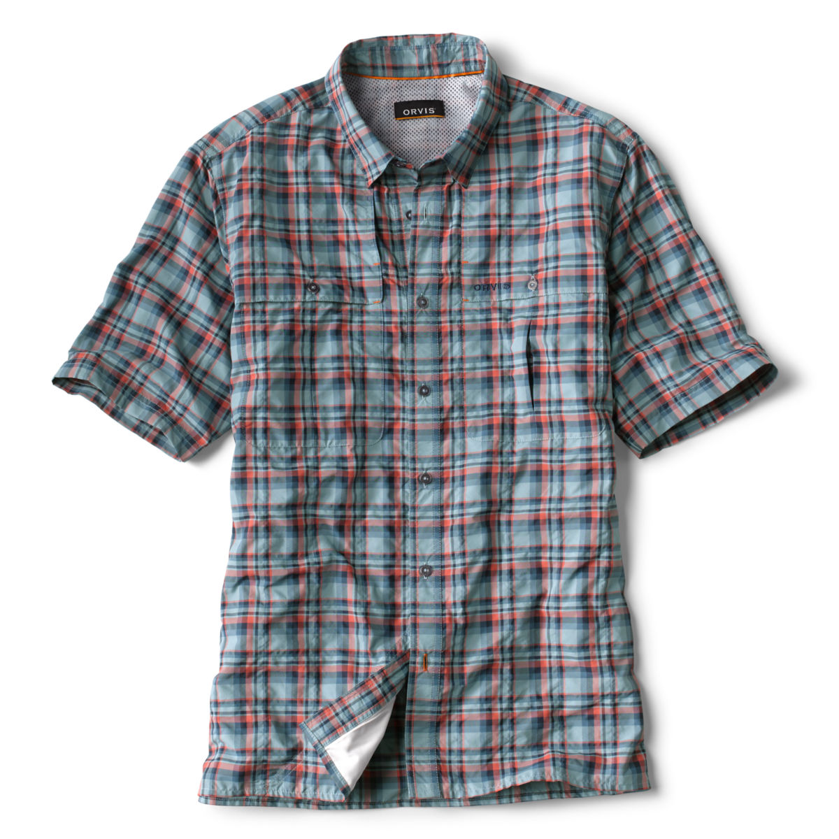 Open Air Plaid Short-Sleeved Casting Shirt - image number 0