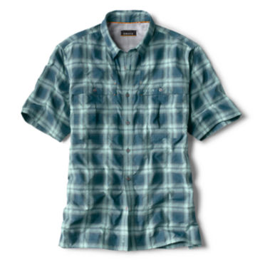 Open Air Plaid Short-Sleeved Casting Shirt -