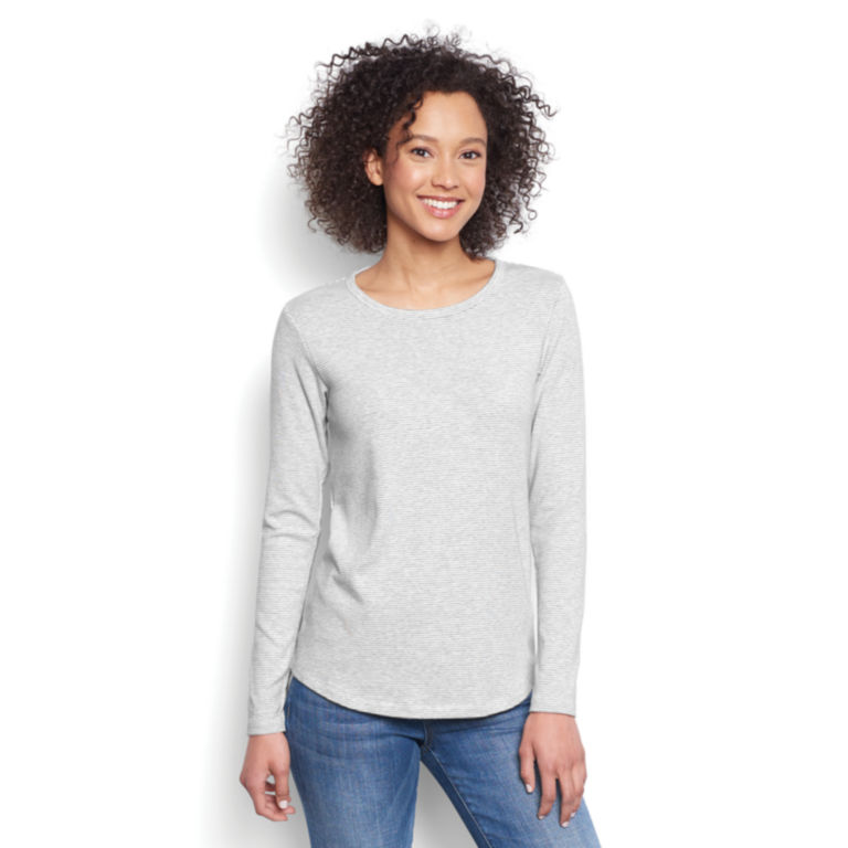 Long-Sleeved Striped Relaxed Perfect Tee -  image number 0