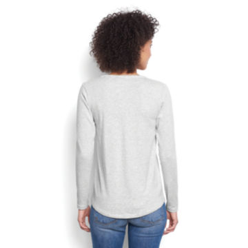Long-Sleeved Striped Relaxed Perfect Tee -  image number 2
