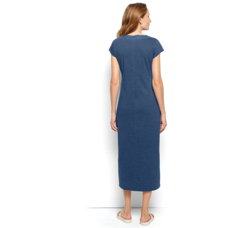Embroidered Indigo Maxi Dress -  image number 1