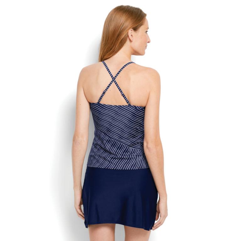 Mid-Thigh Swim Skirt - Nautical Stripe Tankini - NAVY STRIPE image number 3