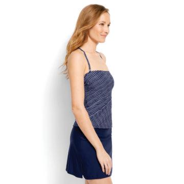 Mid-Thigh Swim Skirt - Nautical Stripe Tankini - NAVY STRIPE image number 2