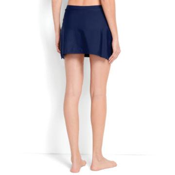 Mid-Thigh Swim Skirt - NAVY image number 1