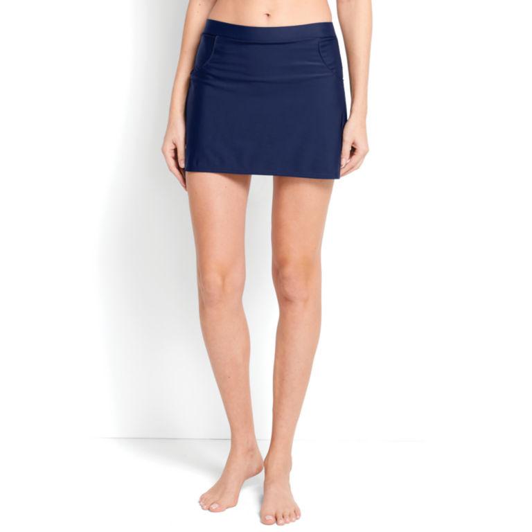Mid-Thigh Swim Skirt - NAVY image number 0