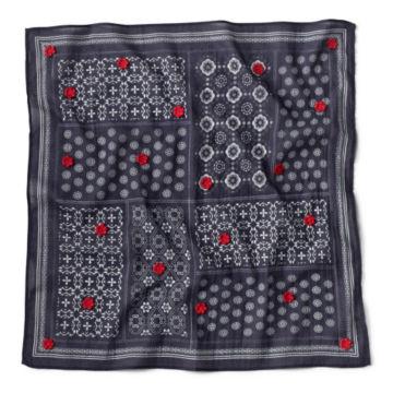 Embroidered Cotton Bandana -  image number 1