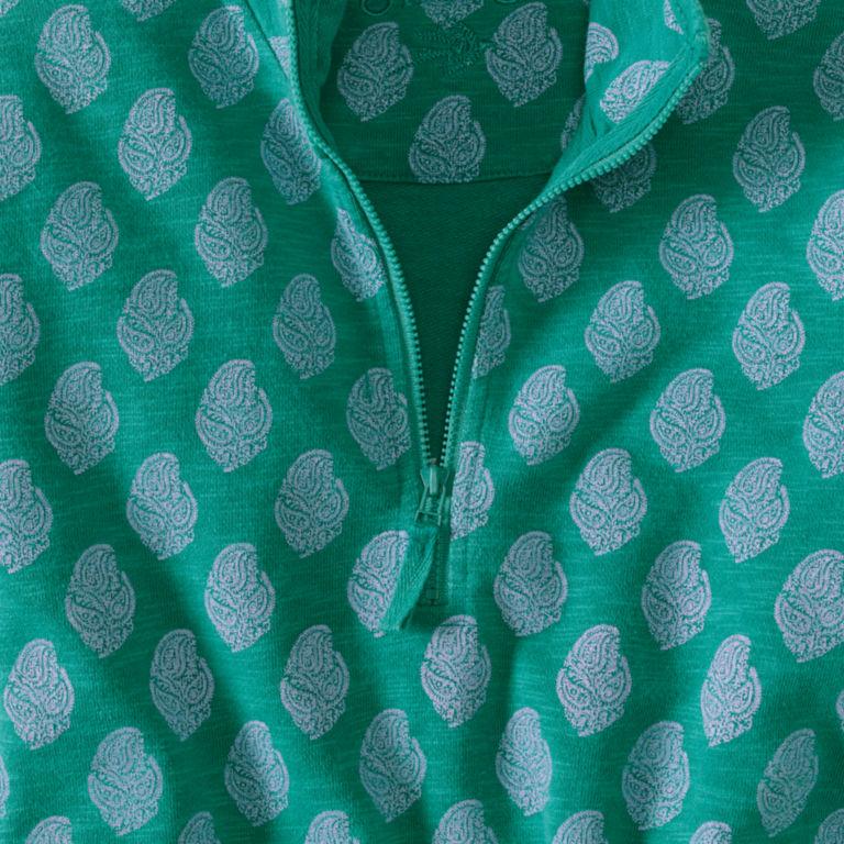 Printed Sunwashed Quarter-Zip - ST TROPEZ image number 1