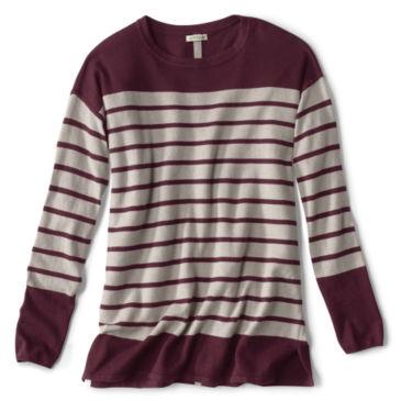 Cotton/Cashmere/Silk Striped Tunic Sweater -