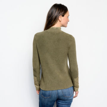 Mixed Media Quarter-Button Sweater -  image number 2