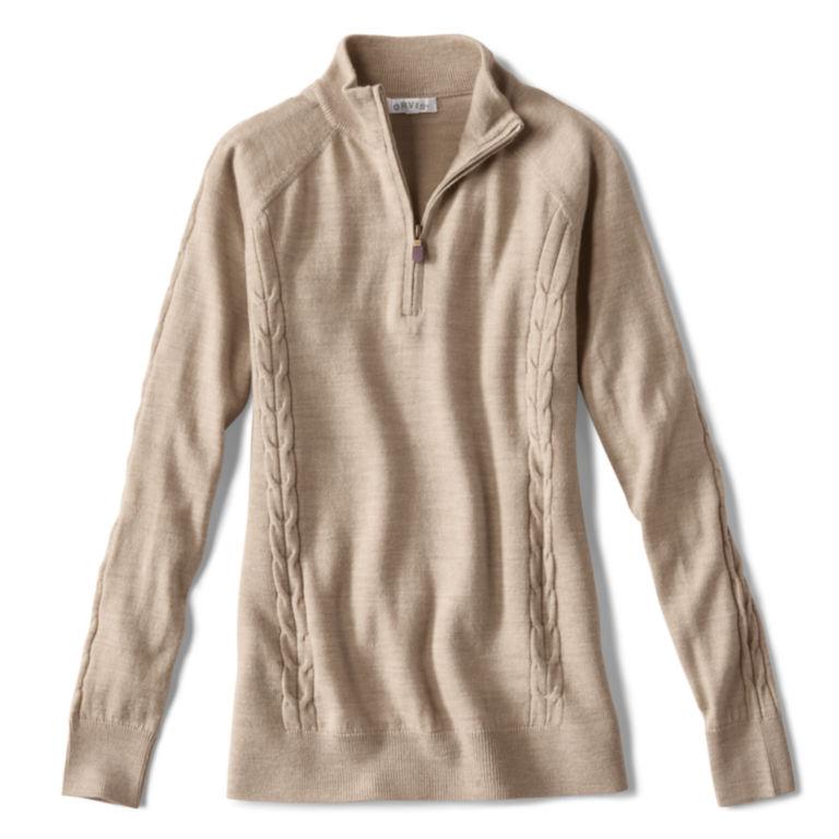 Signature Merino Quarter-Zip Sweater -  image number 0