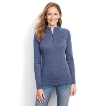 Signature Merino Quarter-Zip Sweater -