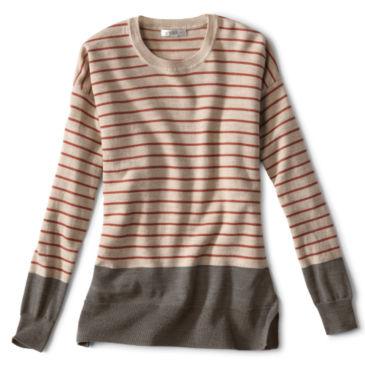 Signature Merino Stripe Crewneck Sweater -