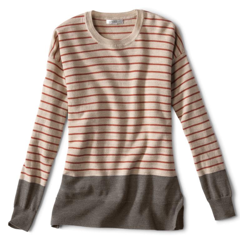 Signature Merino Stripe Crewneck Sweater -  image number 0
