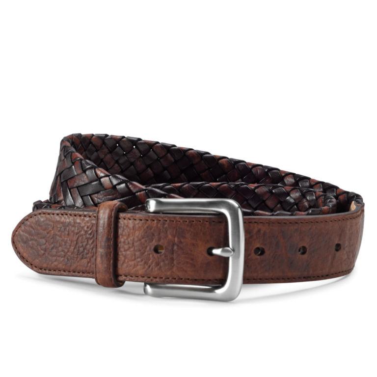 Bison and Latigo Braided Belt -  image number 0