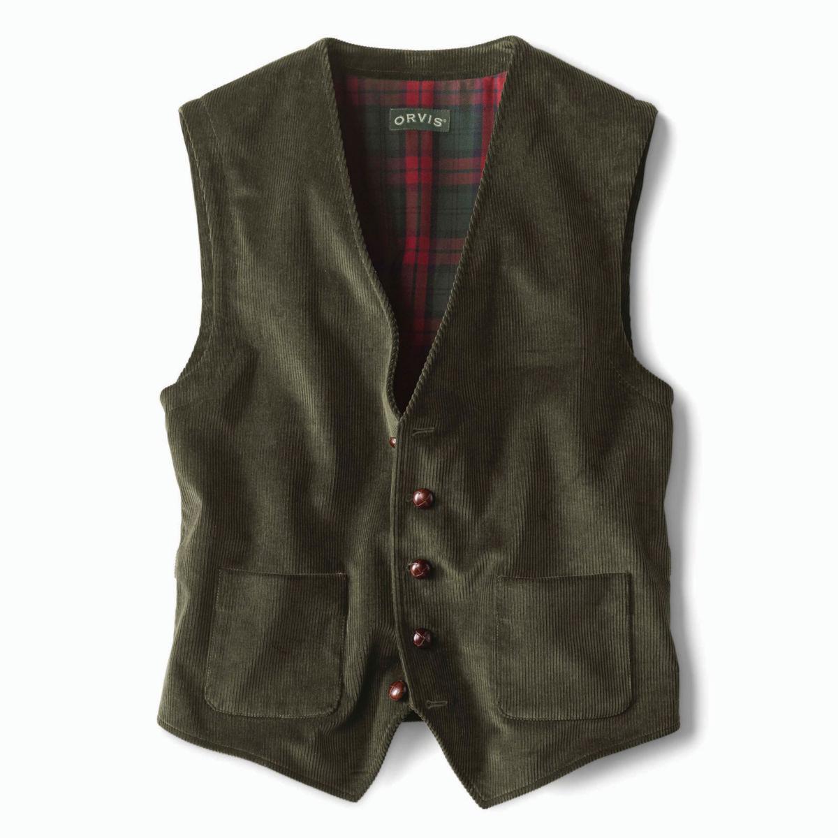 Corduroy Vest - OLIVEimage number 0