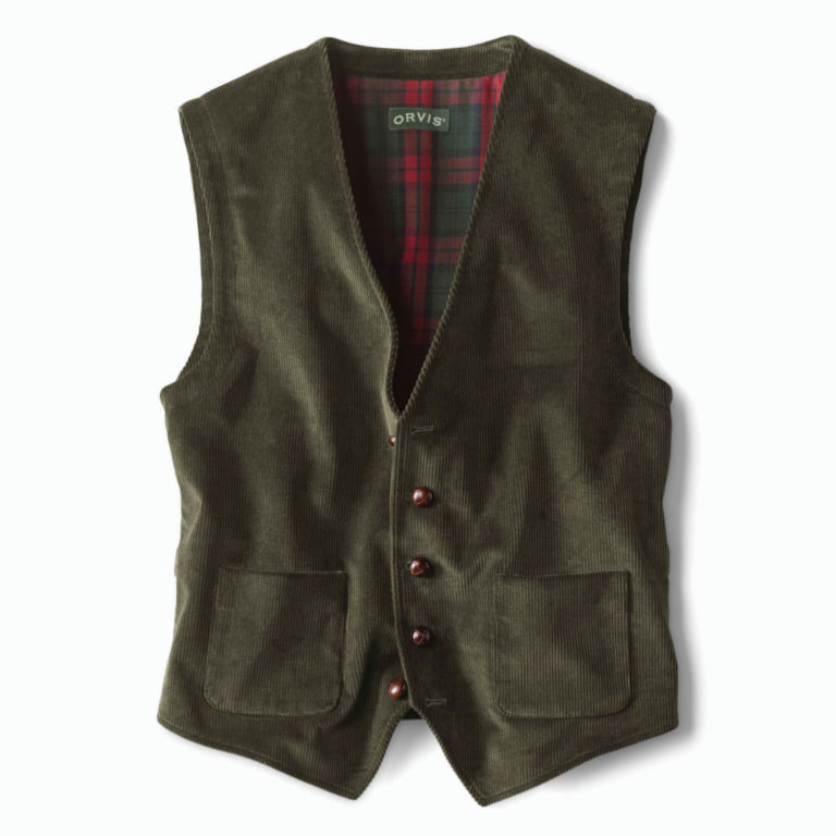 Corduroy Vest - OLIVE image number 0