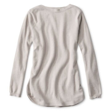 Cotton/Cashmere/Silk Easy Tunic Sweater -  image number 3