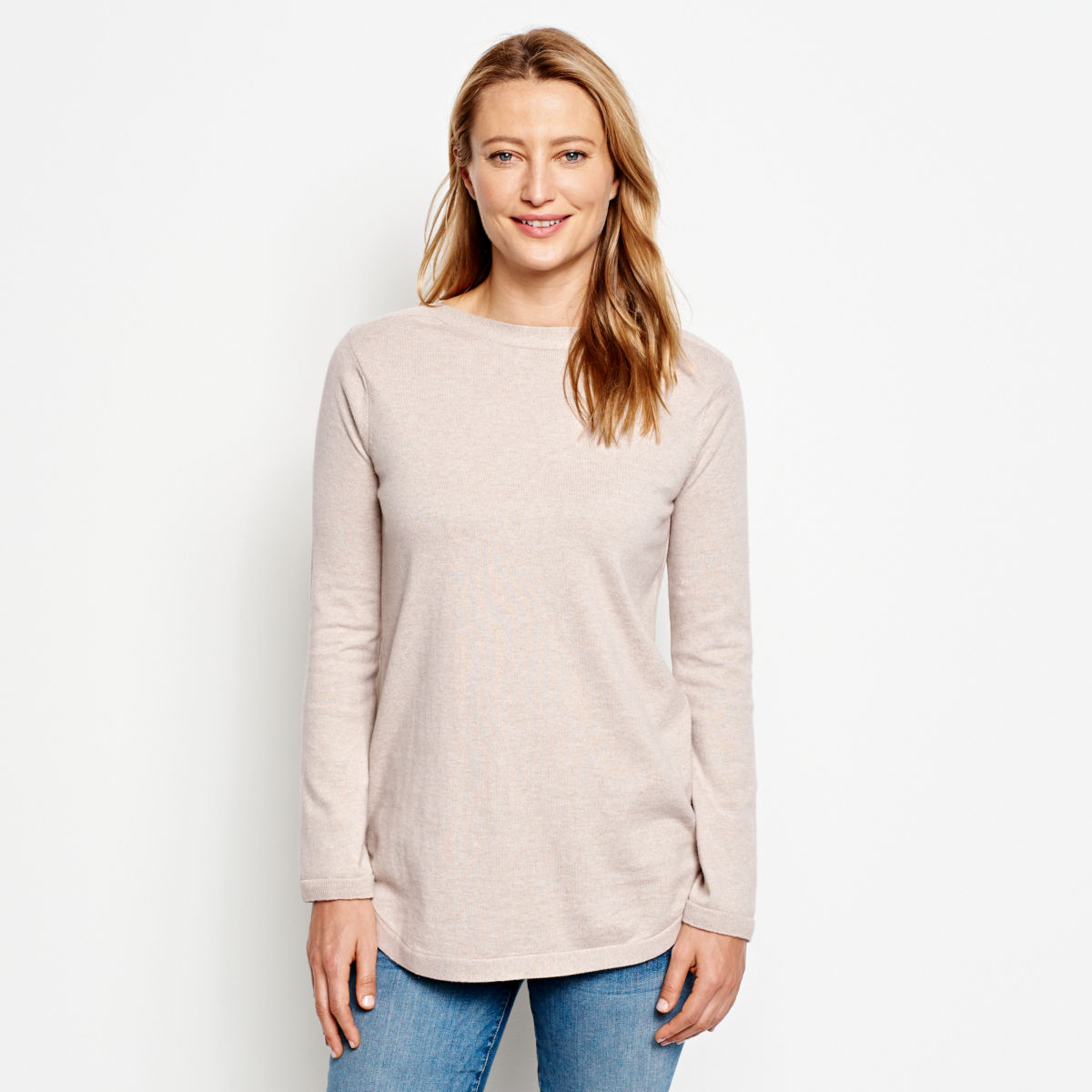 Cotton/Cashmere/Silk Easy Tunic Sweater - image number 0