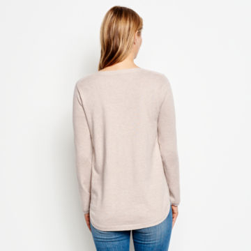 Cotton/Cashmere/Silk Easy Tunic Sweater -  image number 2
