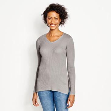 Ribbed V-Neck Sweater -
