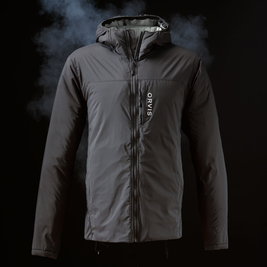 A black men's Pro insulated hoodie
