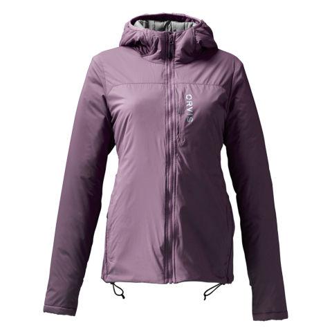 A dusty purple women's Pro insulated hoodie