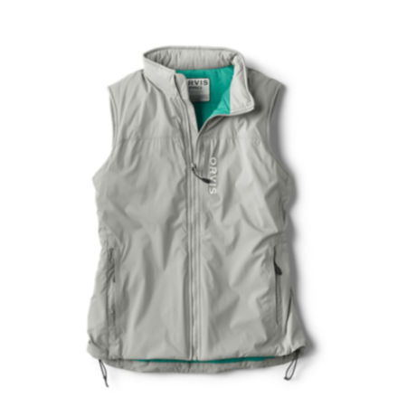 Women's Pro Insulated Vest laid down on a white background