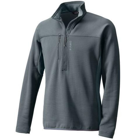 A grey men's Pro half-zip fleece