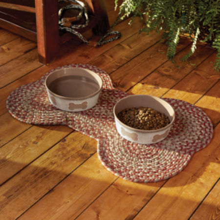 Food and Water in dog bowls