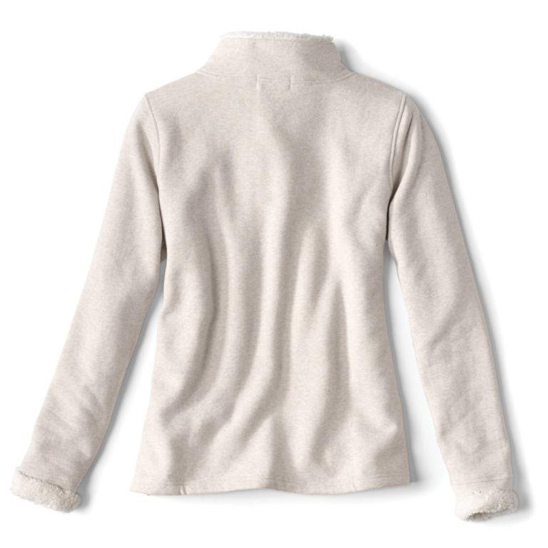 Mockneck Sherpa-Lined Sweatshirt -  image number 1