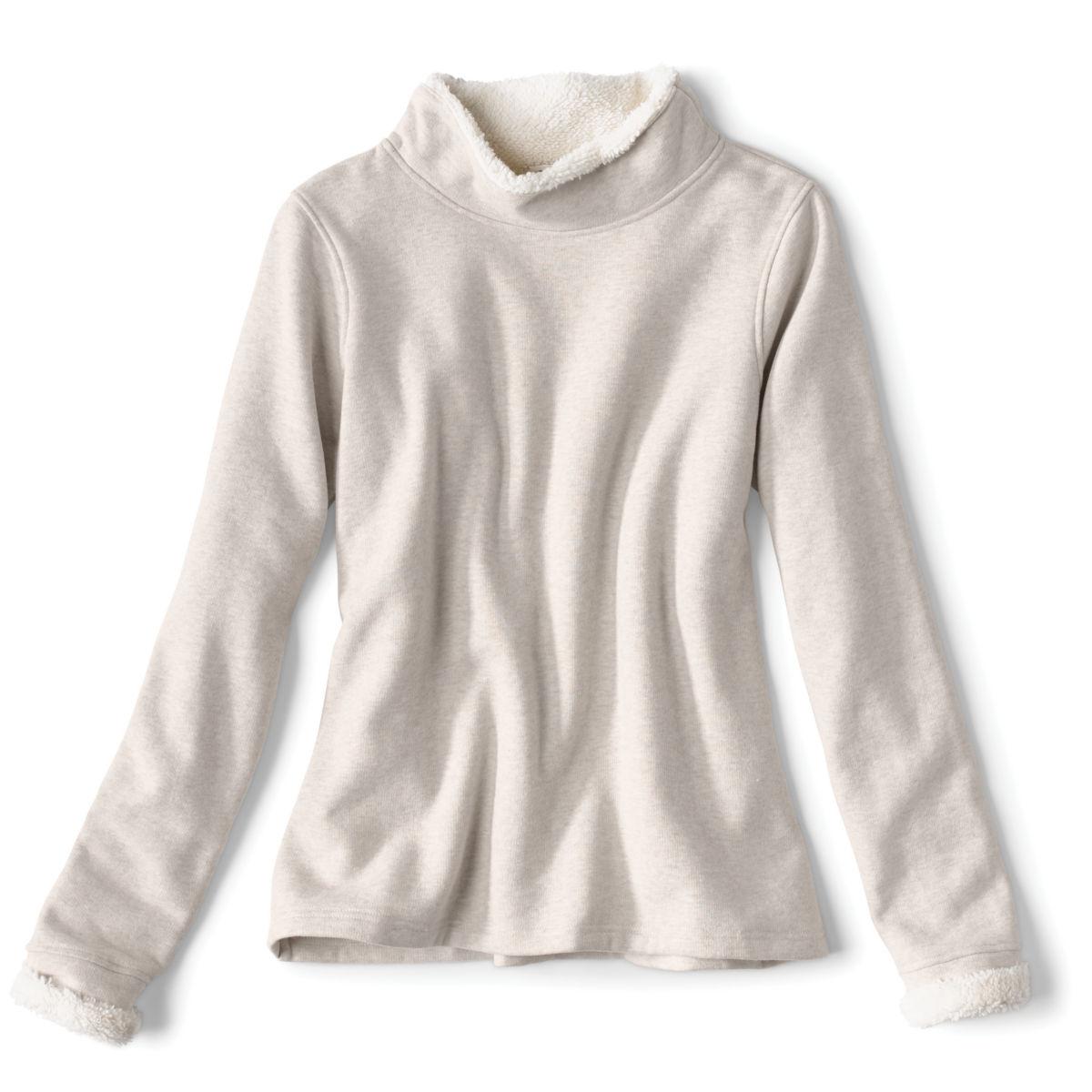 Mockneck Sherpa-Lined Sweatshirt - image number 0